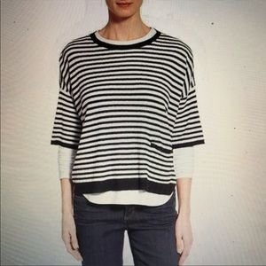 Eileen Fisher Organic Linen Striped Slub Sweater